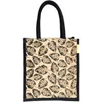 H&B Unisex Multicolour Jute Tote Bag (11x9x6 Inches)