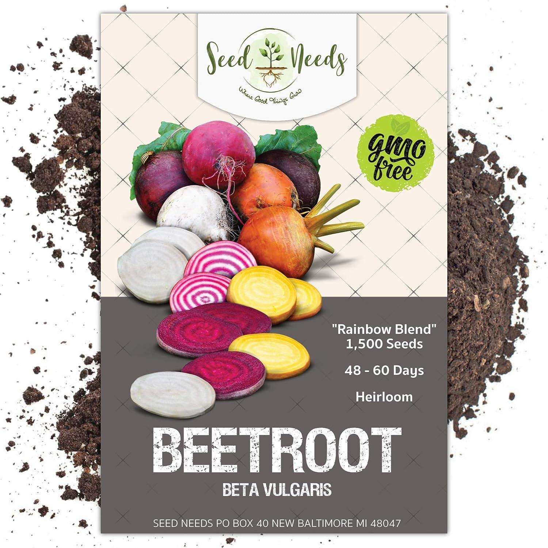 BEETROOT Mix 210 Seeds ALL SEASON 5 Type HEIRLOOM Vegetable Garden 5pks SALAD
