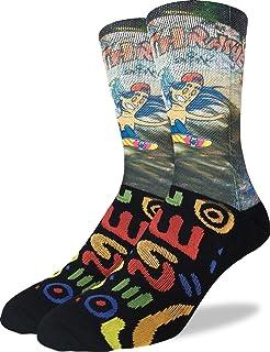 Good Luck Sock Mens Skateboarder Crew Socks - Black, Adult Shoe Size ...