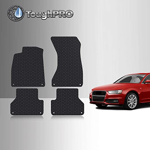 Coverking Custom Fit Floor Mats for Audi A4 AllRoad Nylon Carpet Black CFMBX1AU9241