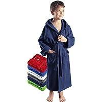Arus Albornoz infantil con capucha tejido de rizo de algodón