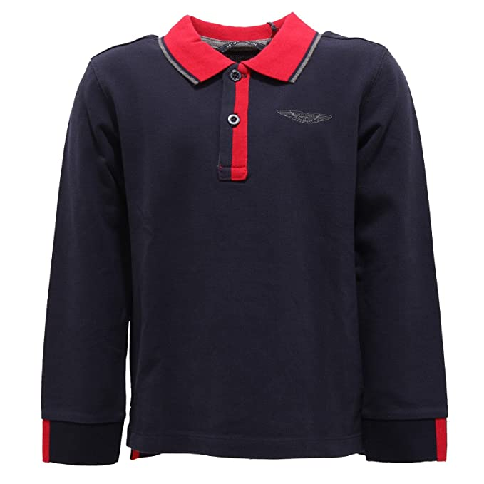 9129R polo bimbo ASTON MARTIN blu maglia t-shirt polo kid [5 YEARS ...