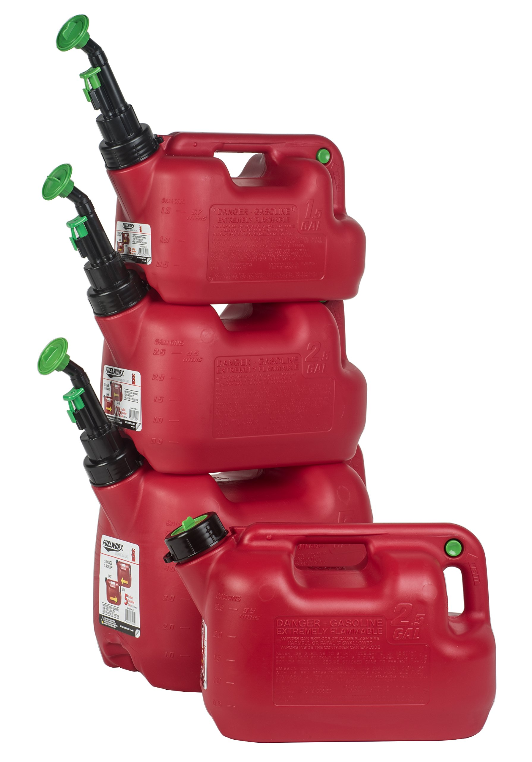 Fuelworx 47902 Red 2.5 Gallon Gas Can