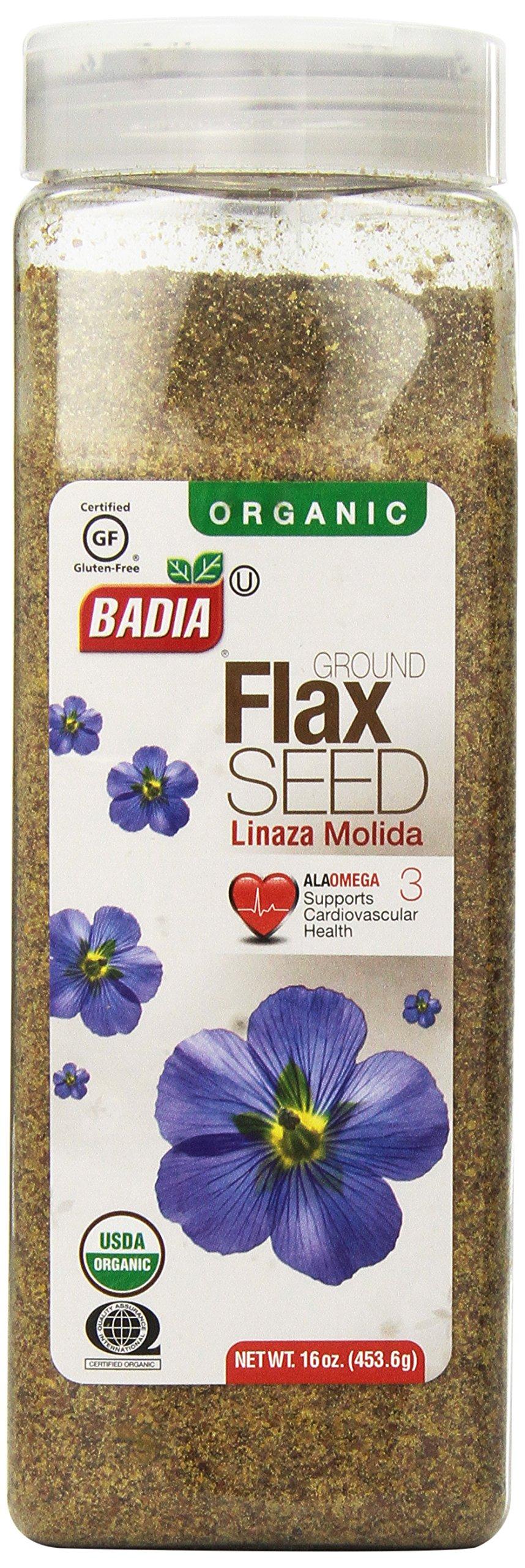Badia Organic Flax Seed, Ground, 16-Ounce