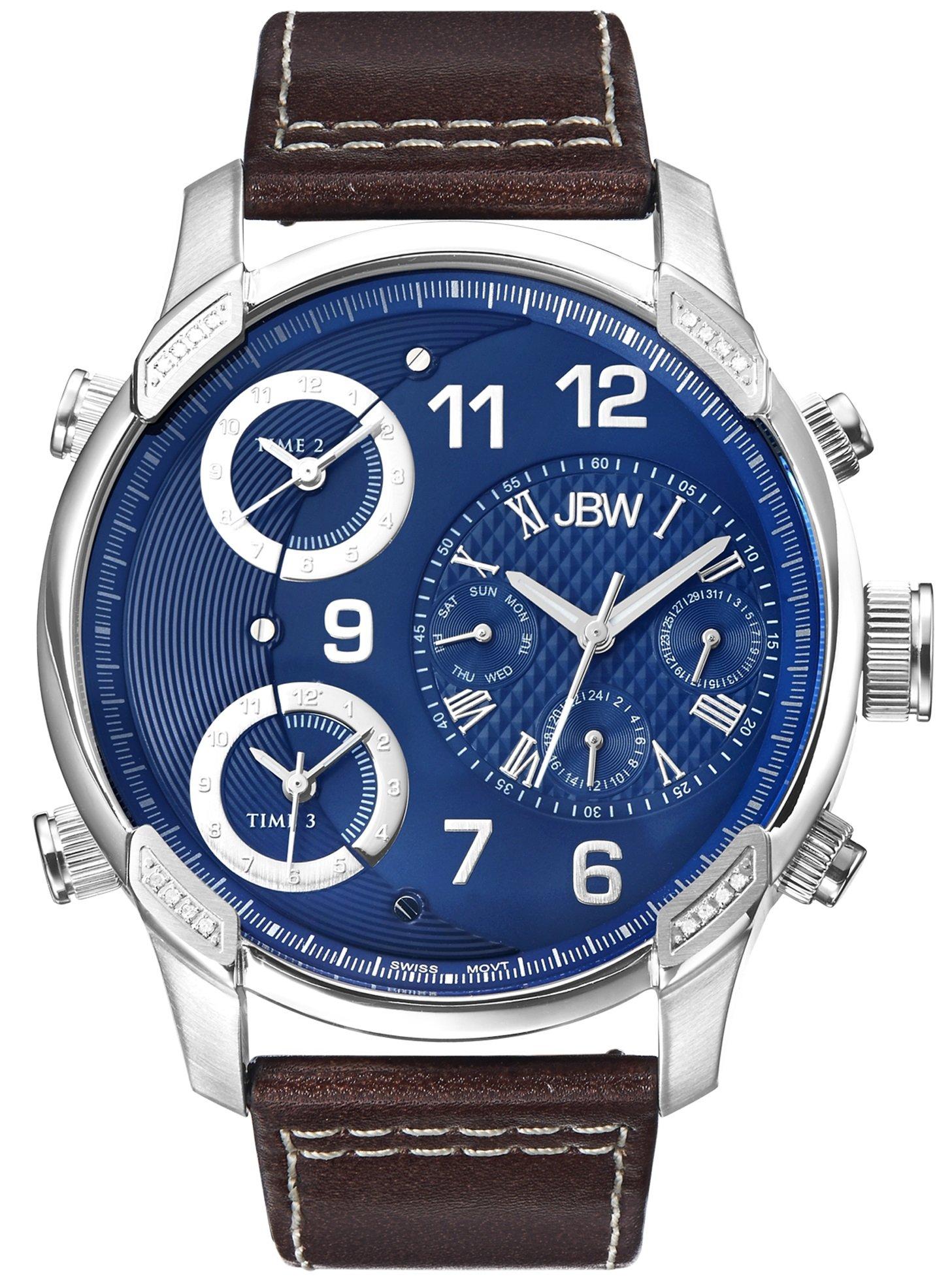 Jbw Men's J6248Ln G4 Analog Display Swiss Quartz Brown Watch 8