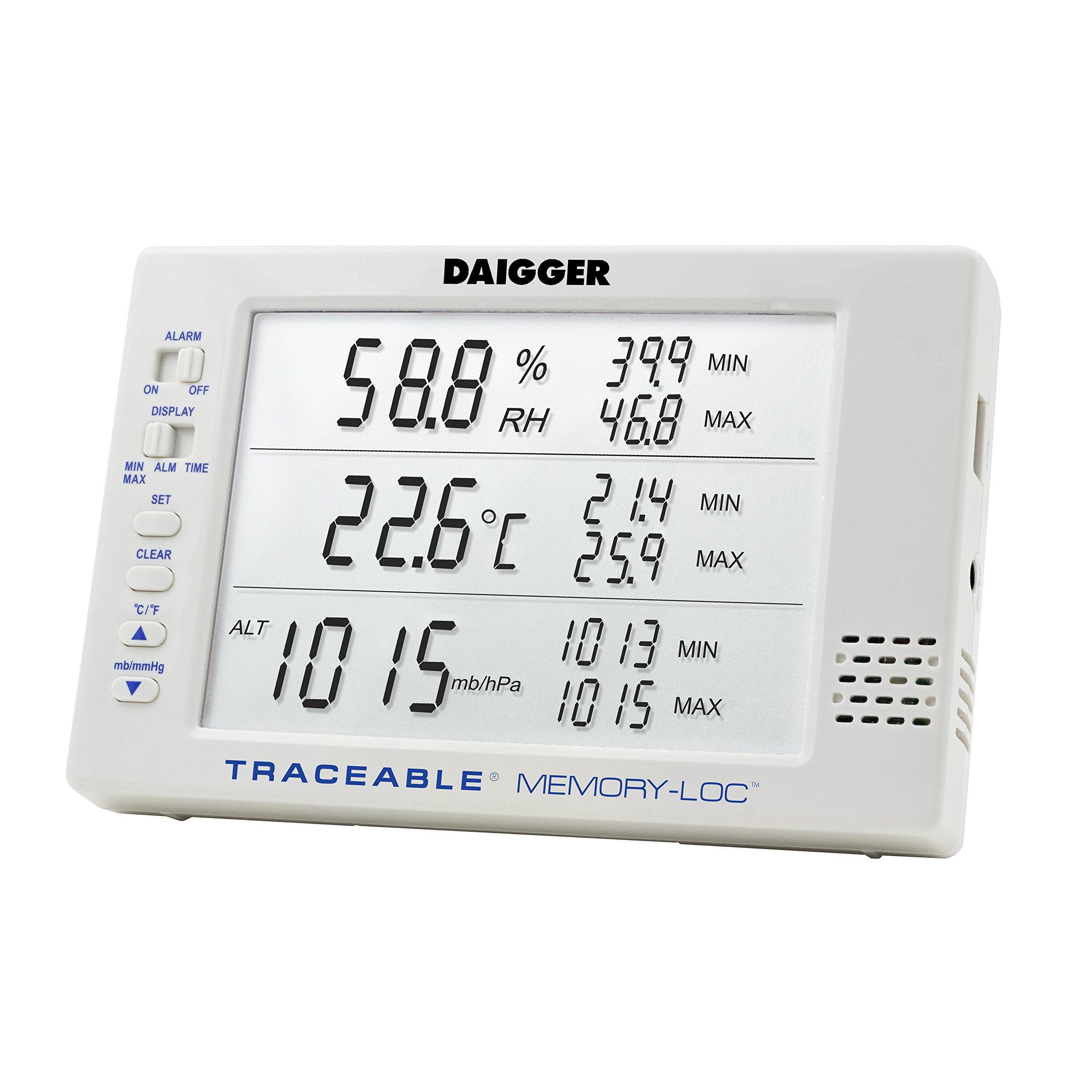 Daigger Traceable Memory-Loc Datalogging Barometer