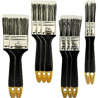 pegamentos y muebles de gesso Artibest 6 pinceles de pintura de nailon con mango de madera para barnices de manchas