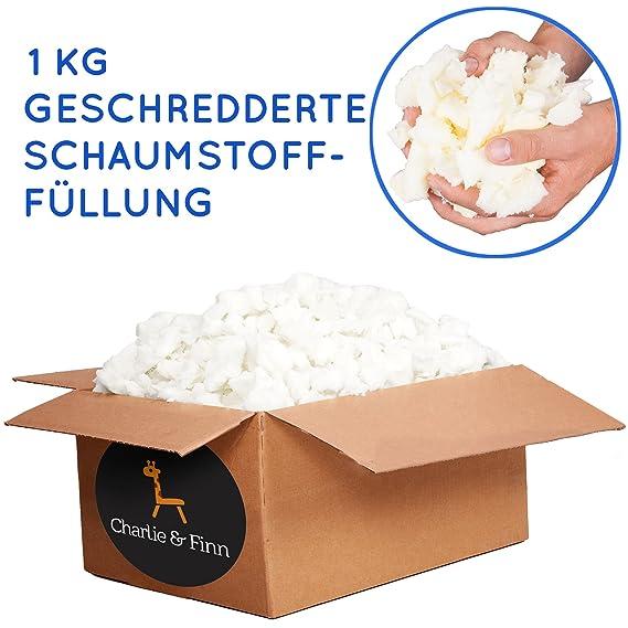 1 kg Relleno de espuma viscoelástica triturada, ideal para llenar y rellenar pufs, cojines, almohadas, camas para perros y gatos, sillas. Material de ...