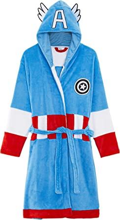 Marvel Captain America Bathrobe Men's Nightwear Dressing Gown Birthday Gift