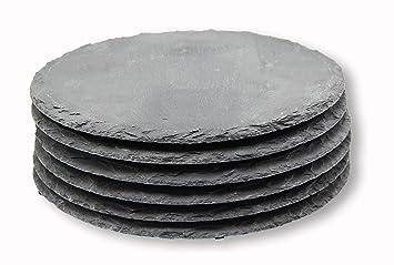 Piatti Cucina In Ardesia : Belleset set di piatti in ardesia design rotondo cm