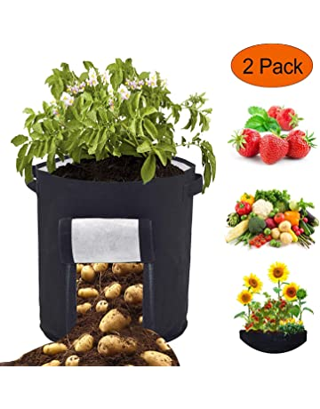 907bc0e4e9 Sacs à Plantes Legumes Croissance Sac - 2 Pcs 46 Litres/12 Gallon Sac de