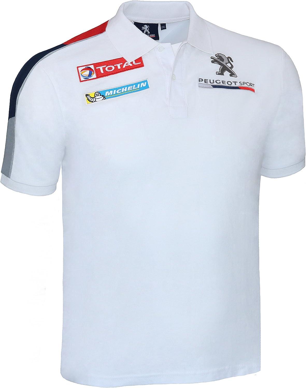 Peugeot Sport - Polo - con Botones - para Hombre Blanco XXX-Large ...