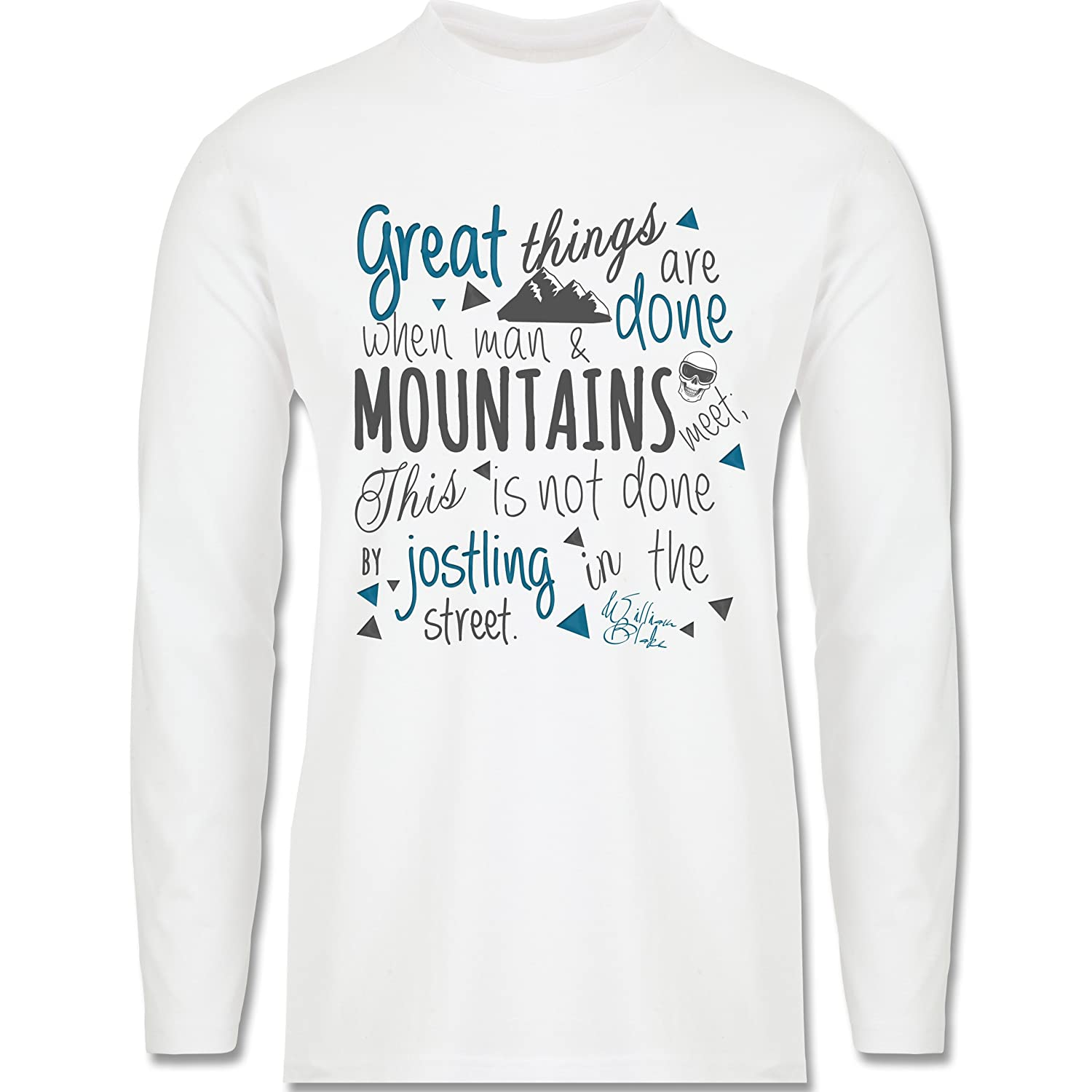 Après Ski - Great things happen Mountain - Longsleeve / langärmeliges T-Shirt für Herren