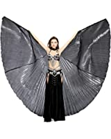 Dance Fairy Belly Dance 360 Degree Isis Wings with Portable Flexible Sticks