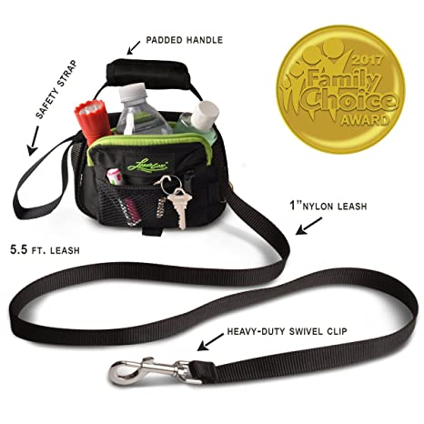 Genial Dog Leash With Built In Plastic Bag Dispenser And Storage Compartment 3 N  1