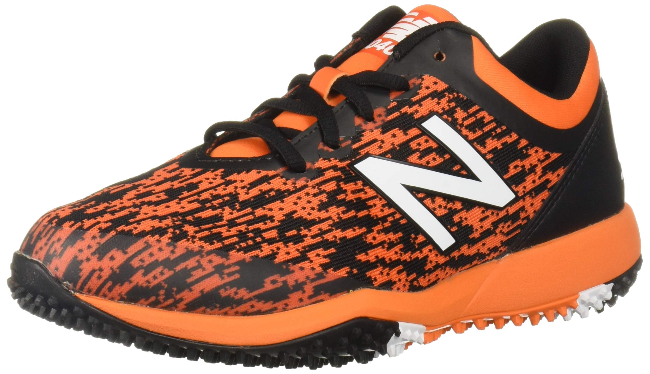 New Balance Men's 4040v5 Turf Track and Field Shoe, Black/Orange, 5 D US