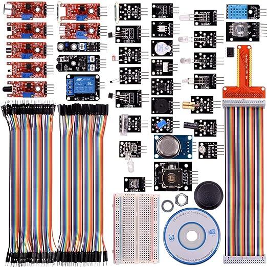 2 opinioni per Kuman K47 38 modules Sensor Kit for Raspberry Pi RPi 3 2 Model B B+ A A+ , 44