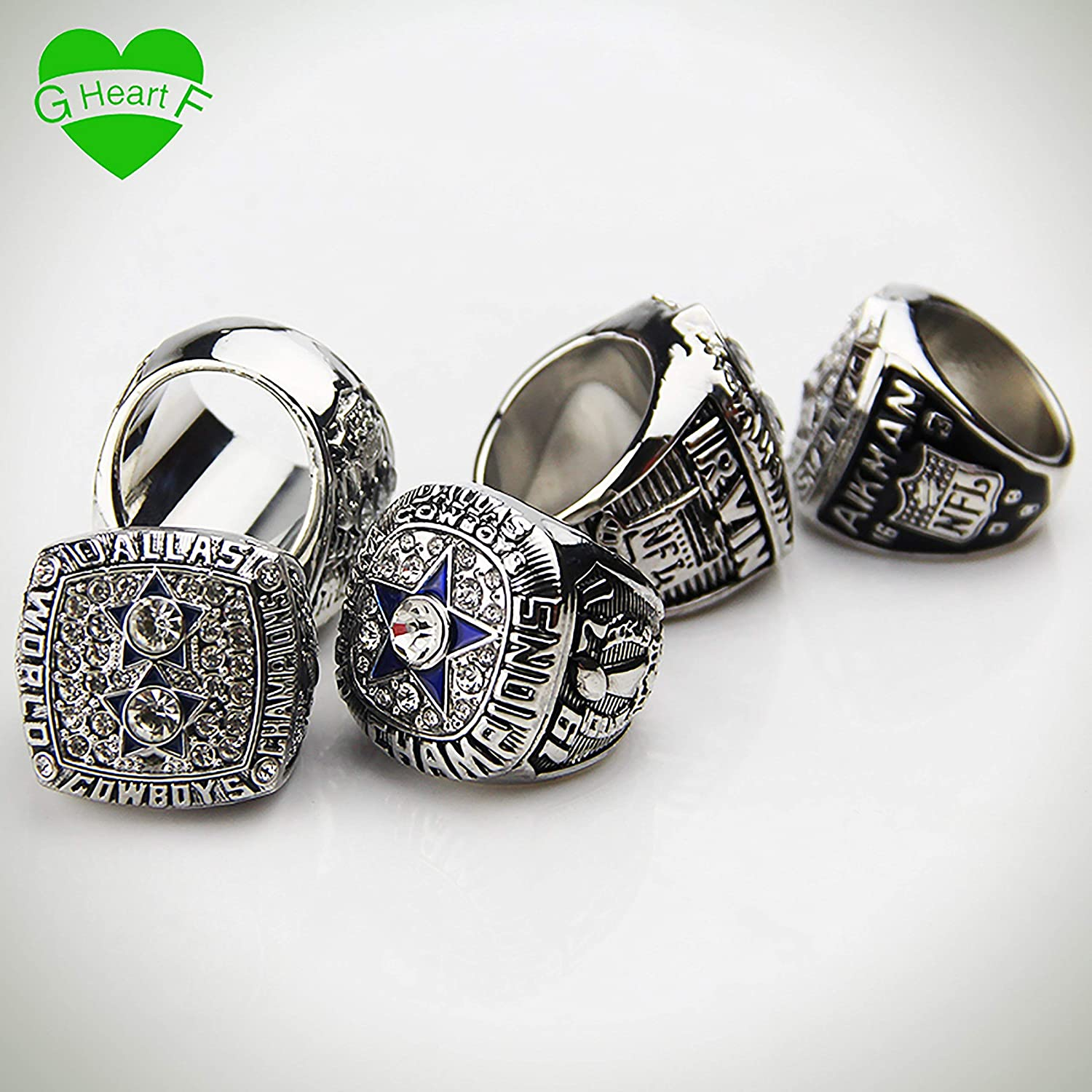 GF-sports store Dallas Cowboys Supper Bowl Championship Rings Display Box Full Set Replica B07D7M6H5C/_US