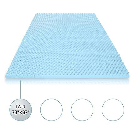 blue twin mattress. Egg Crate Gel Memory Foam Mattress Topper - Twin, Pad Provides Blue Twin