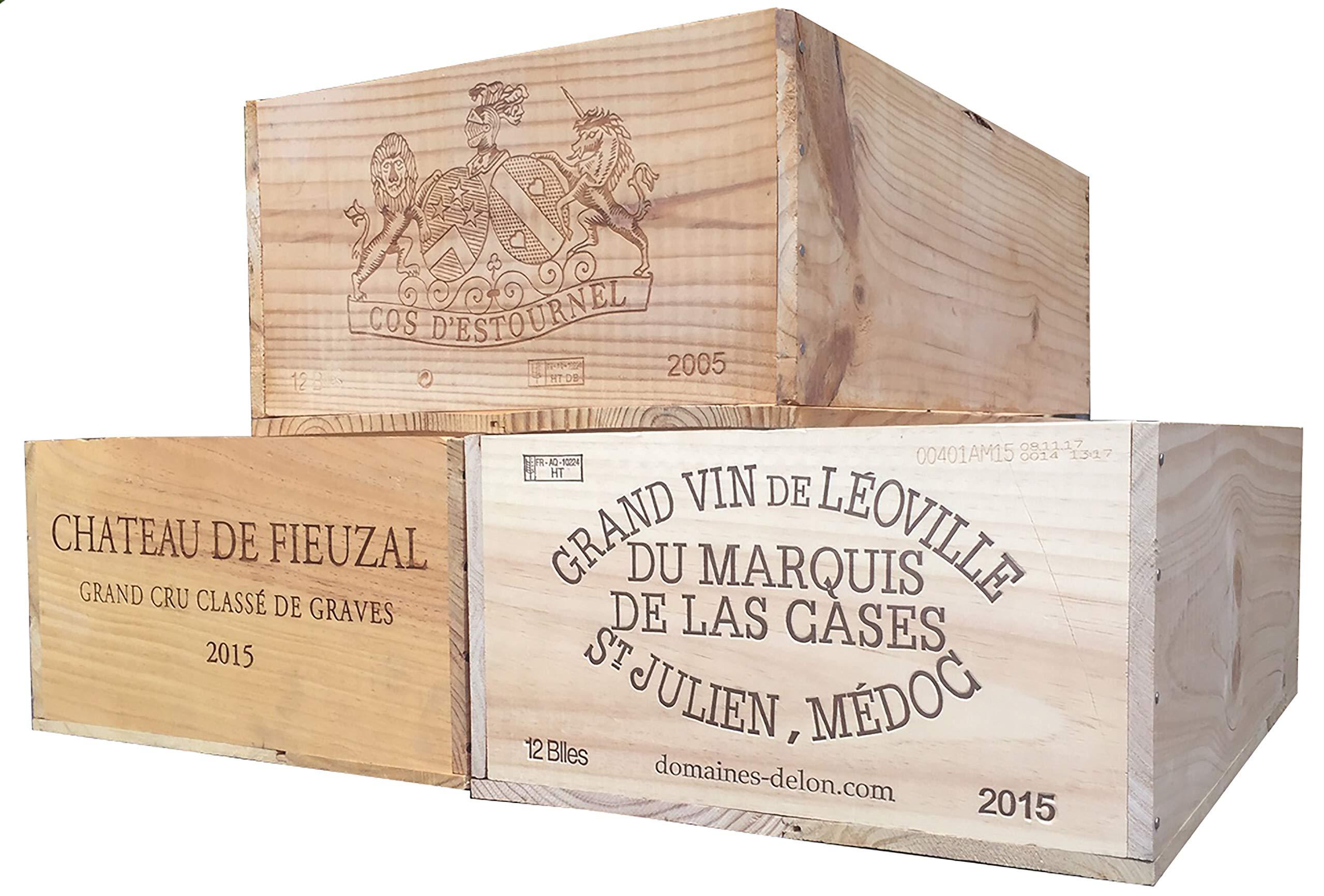 Vineyard Crates One (1) Decorative French Wine Crate - Wooden Box for Wine Storage Wedding Decor DIY Projects Garden Planter Boxes NO Lid NO Storage Inserts (12BtlStd) by Vineyard Crates