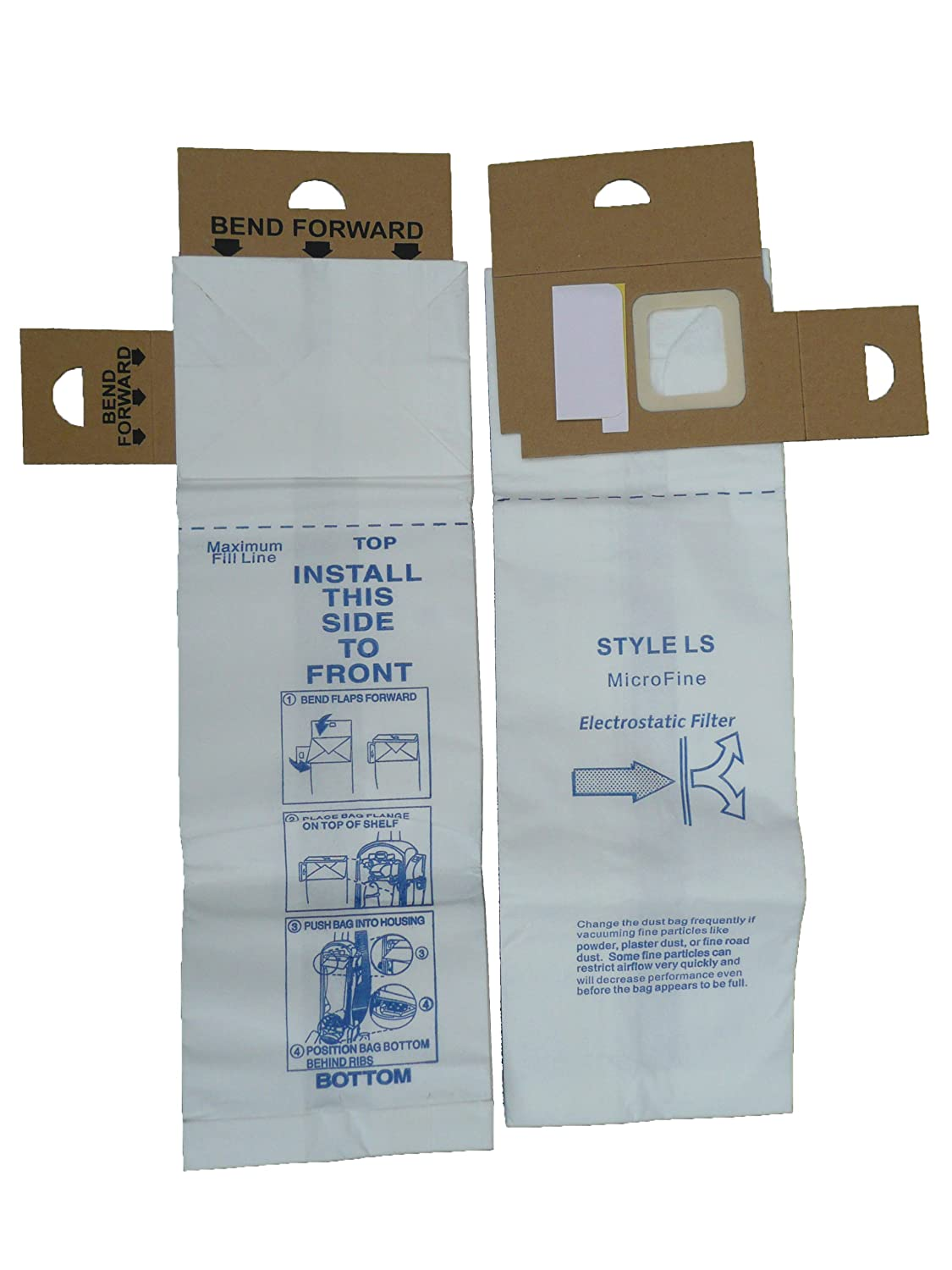 EnviroCare Replacement Vacuum Bags for Eureka Type LS 5700 and 5800 Series Uprights 12 Bags
