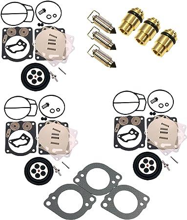 Set of 3 Mikuni Yamaha Carburetor Carb Diaphragm XL XLT 1200 XL1200 XLT1200