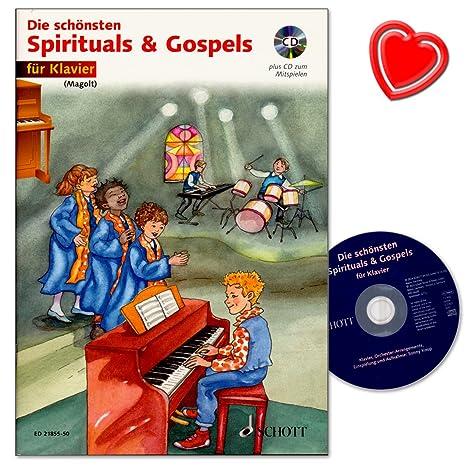 Los mejores Spirituals And Gospels – Partituras de piano para principiantes de Religioso la música de