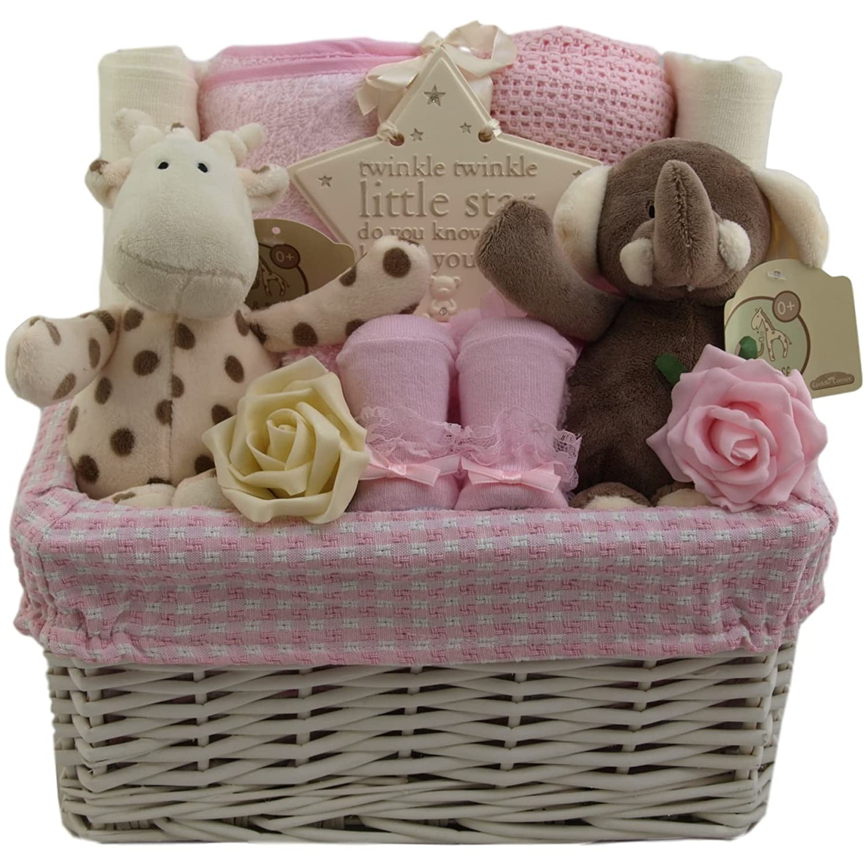 Baby girl gift basket baby girl gift hamper girl baby shower gift new baby girl gift Unique Baby Gift Baskets