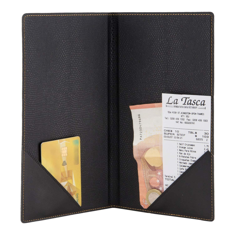 Securit Portaconto Basic nero Fessure per fatture contanti e carta di credito.