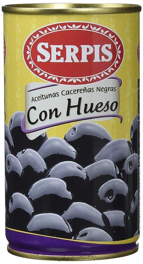 Serpis Aceituna Cacereñas Negras con Hueso - 350 g