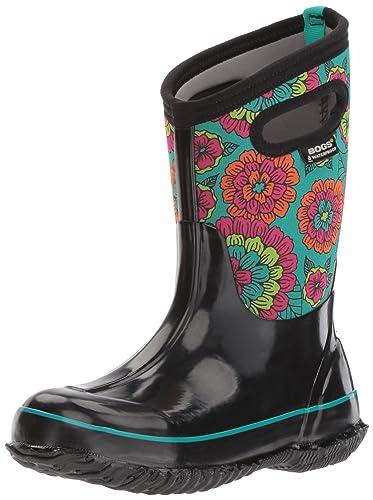 Bogs Baby Classic Pansies Snow Boot, Black/Multi, 10 M US Toddler