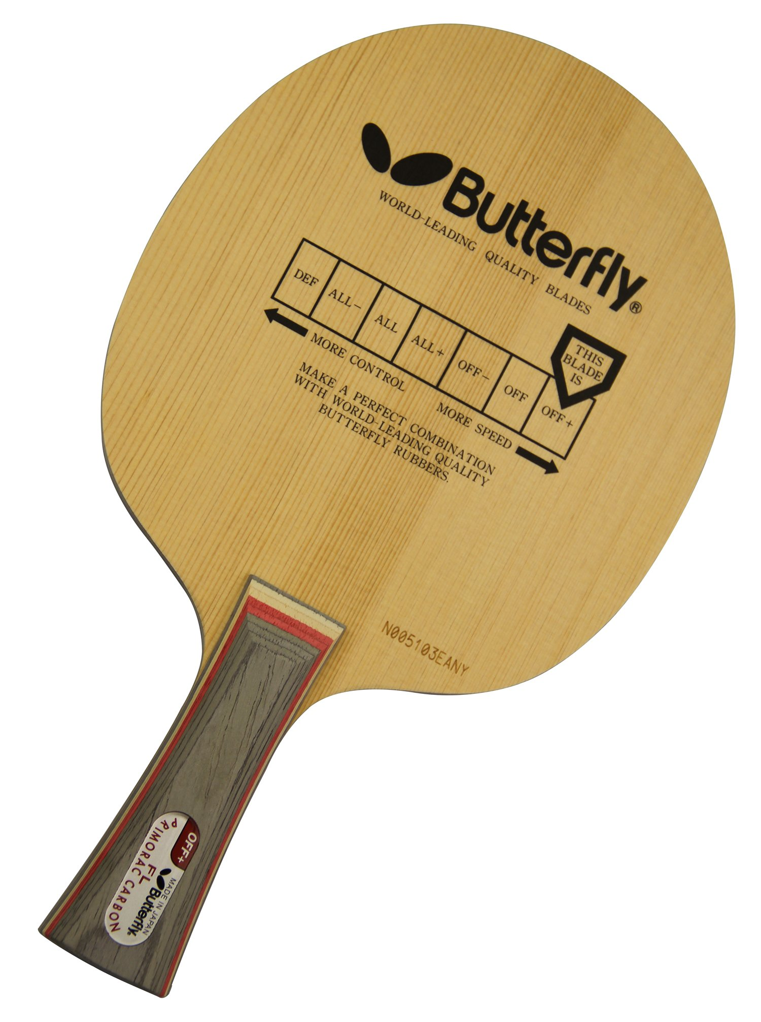 Butterfly Primorac Carbon-FL Blade with Flared Handle by Butterfly