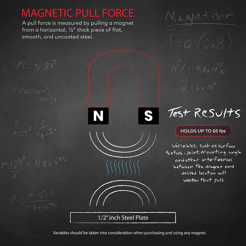 1,4/cm d/épaisseur 29,5/kilogram Master Magnetics 07580/Crochet magn/étique avec rotatif et pivotant Crochet 3,7/cm de diam/ètre Noir