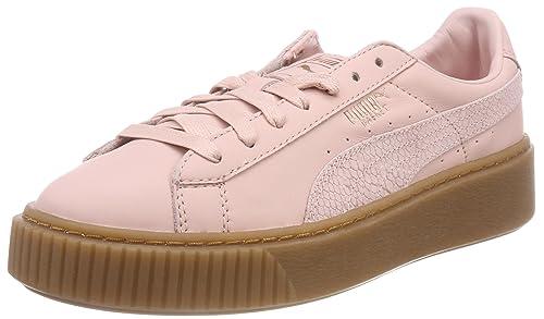 new style 67254 06d4e Amazon.com | PUMA Women's Basket Platform Euphoria Gum ...