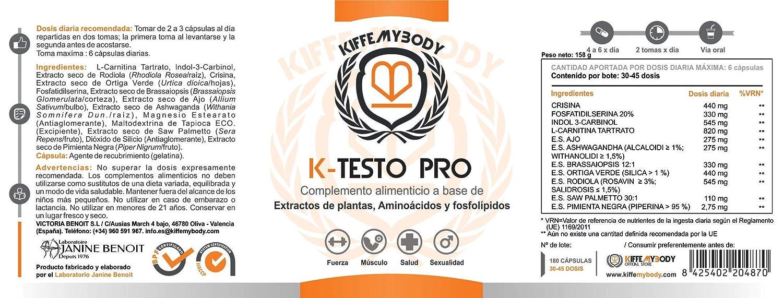 K-Testo Pro (180 cápsulas): Amazon.es: Salud y cuidado personal
