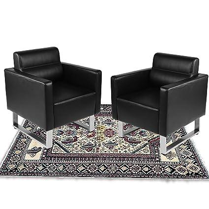 Amazon.com : LuckyerMore Set of 2 Barrel Chair Office Sofa ...