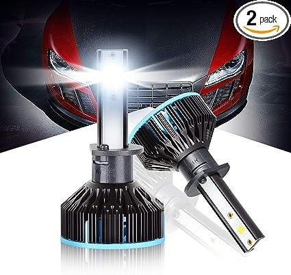 2x H1 Turbo LED Headlight Conversion Kit Front Bulb Lamp 10000LM 6000K White