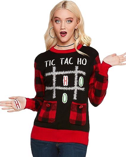 Amazon.com Ugly Christmas Sweater , Tic Tac Ho Clothing