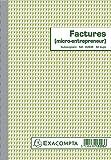 Manifolds - 13293E - Factures micro-entrepreneur 21x14,8cm - 50 feuillets autocopiants dupli