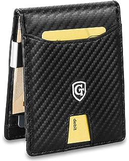 550be58ce8613 GenTo Herren Designer-Geldbörse Jakarta mit Geldklammer und Münzfach - TÜV  geprüfter RFID