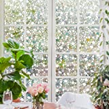 Rabbitgoo Privacy Window Film Decorative Window Film Static Cling Window Film 17.7in. By 78.7in. 3D Pebble Glass Film for Home Kitchen Bedroom