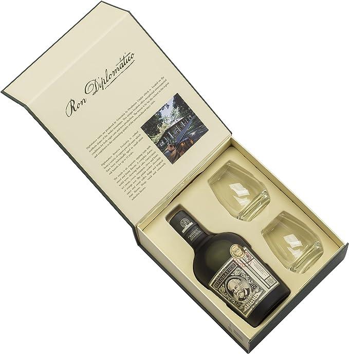 Ron Diplomatico Reserva Exclusiva con Pack Vasos - 700 ml