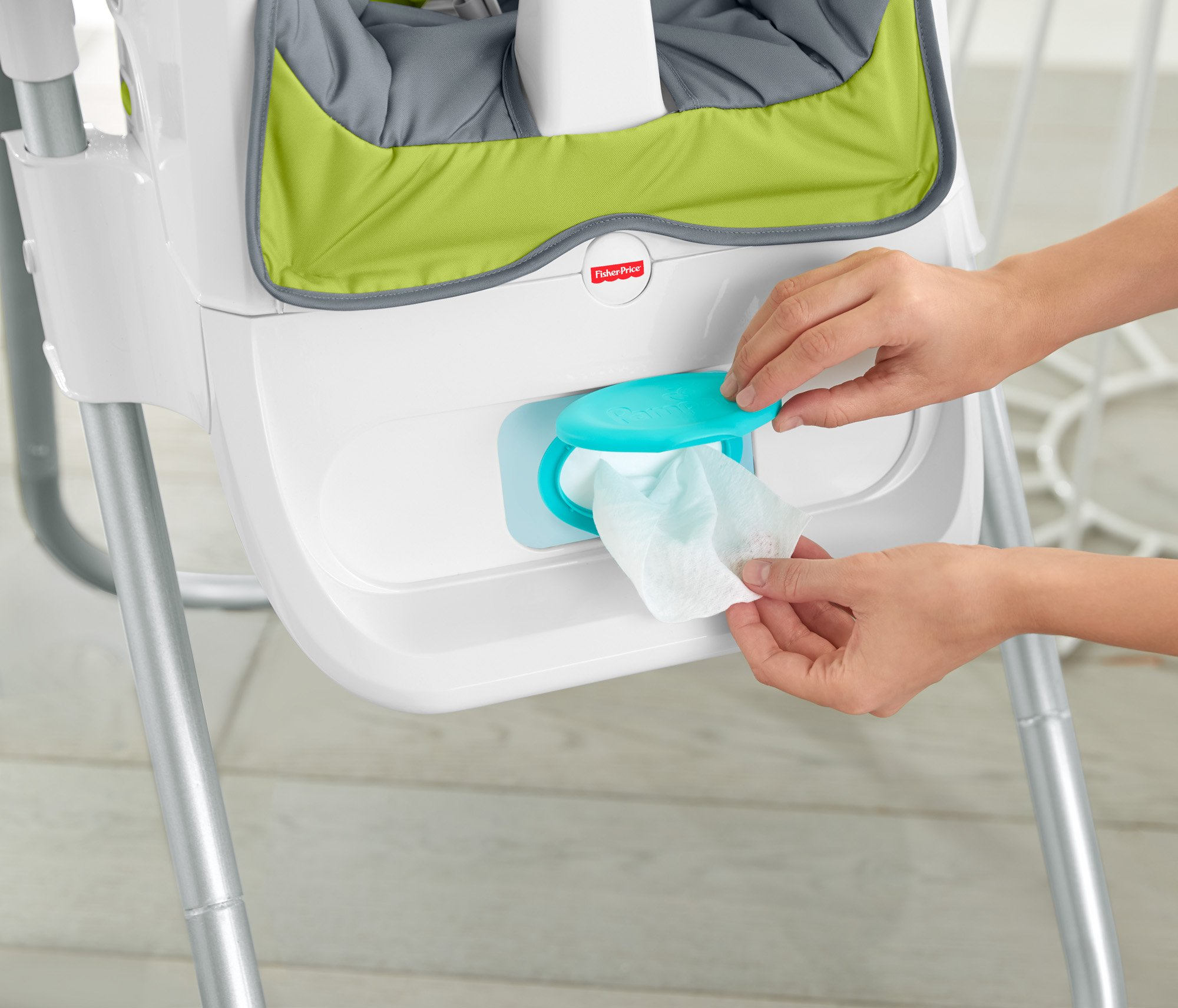 Fisher-Price 4-in-1 Total Clean High Chair, Green/Gray by Fisher-Price (Image #14)