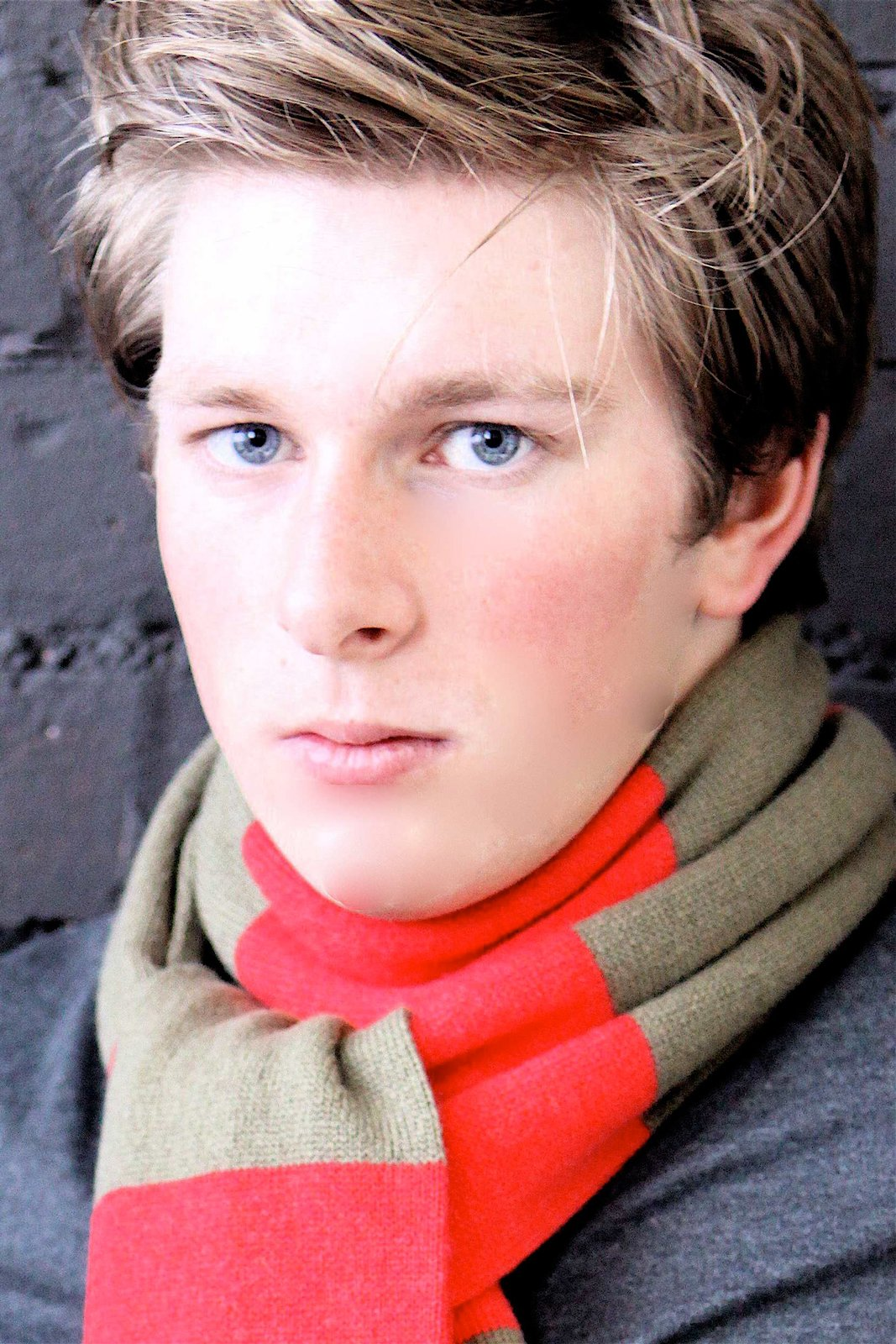 Mens Striped 100% Cashmere Scarf - Light Natural / Light Gray - handmade in Scotland by Love Cashmere by Love Cashmere (Image #2)