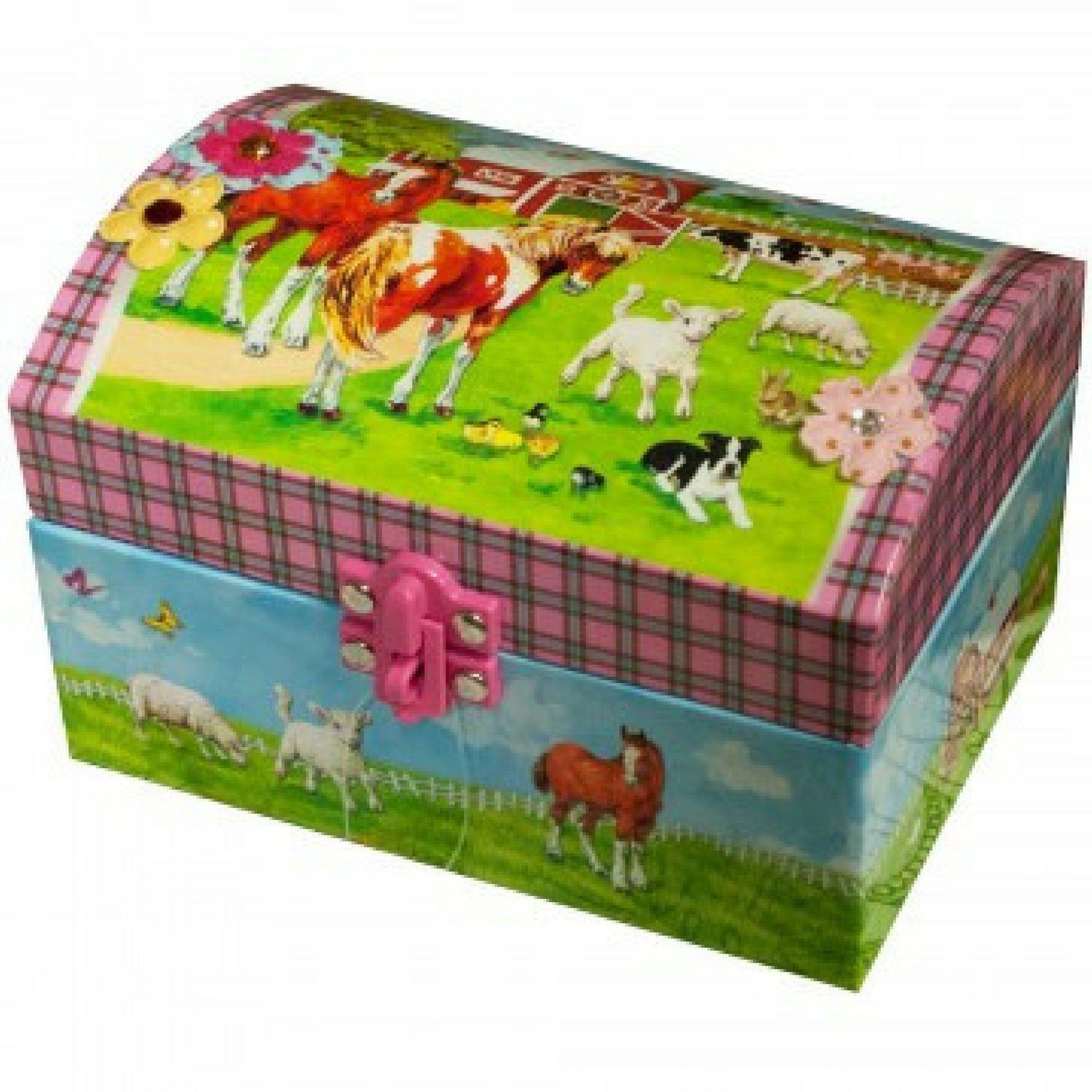 Horse Musical Jewelry Box for Girls - Beautiful Musical Necklace Box that comes with a Free Cool Gifts Yellow Necklace - The Perfect Girl Gifts for Cowgirls and Horse Lovers by BoomBoxHub (Image #3)