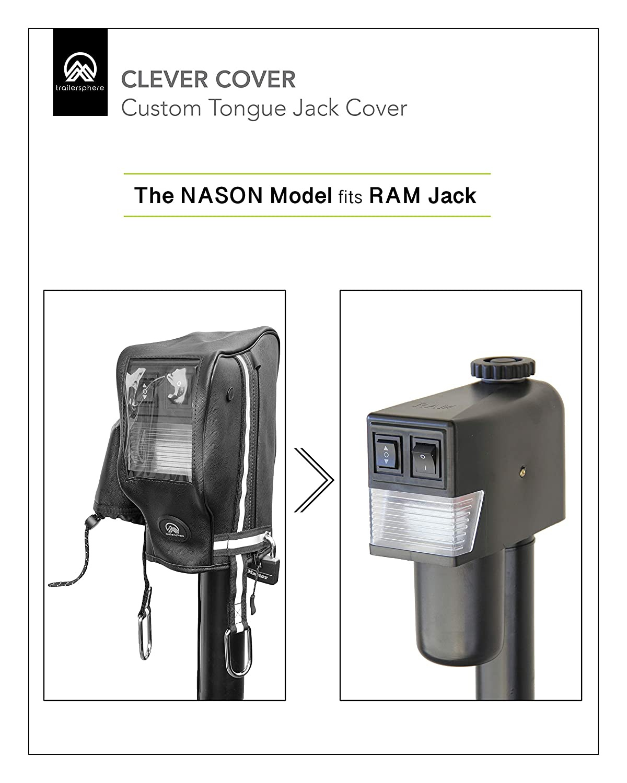 Trailersphere 433070 Black Standard CCRAM03 Head Ram Jack Clever Cover Nason