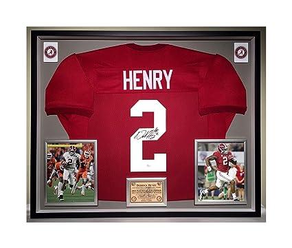 finest selection f40ce 1ae2b Premium Framed Derrick Henry Autographed/Signed Alabama ...
