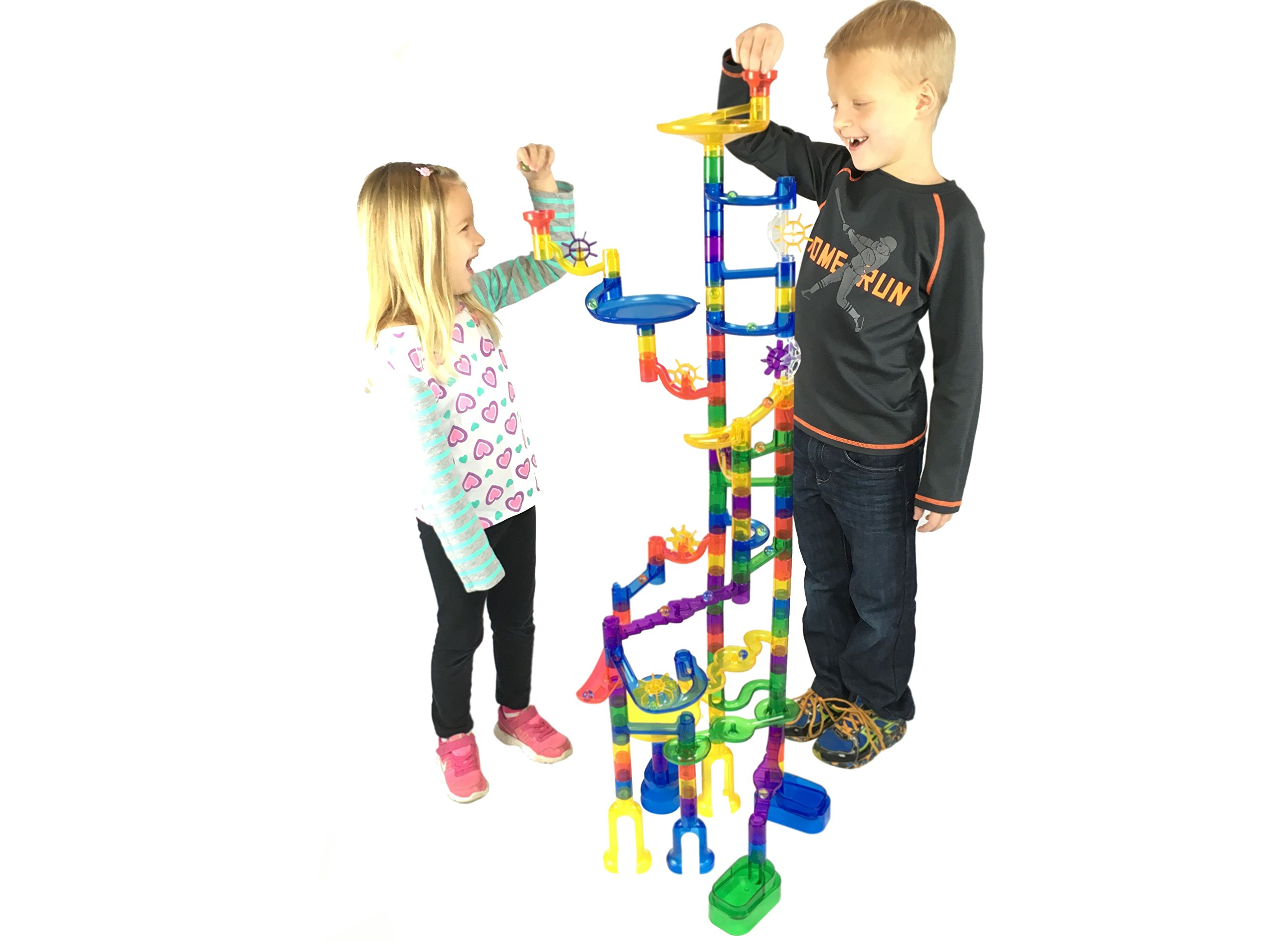 100 Complete Pieces Marble Genius Marble Run Super Set Free Instruction App
