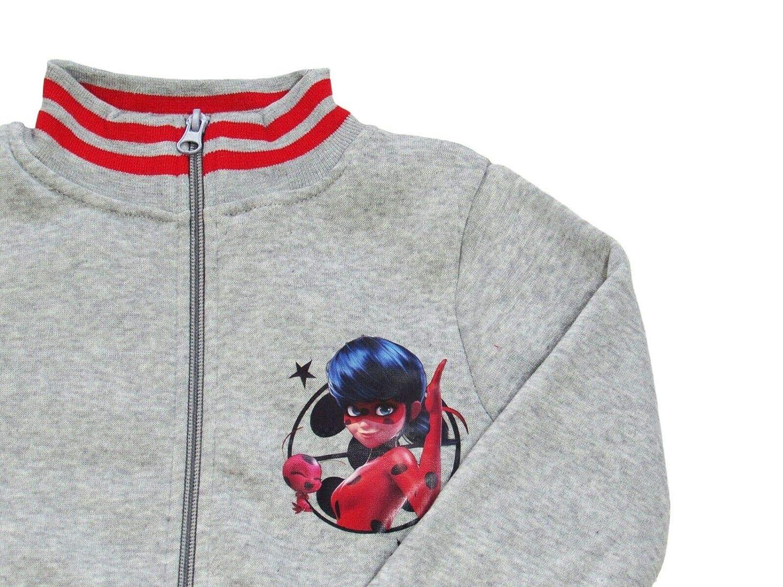 10 Anni, Rosso takestop Tuta da Ginnastica Ladybug Felpa con Cerniera Zip Coccinella Cartone Animato Miraculous Disney Caldo Inverno Sportiva Jogging Bimba Bambina Idea Regalo