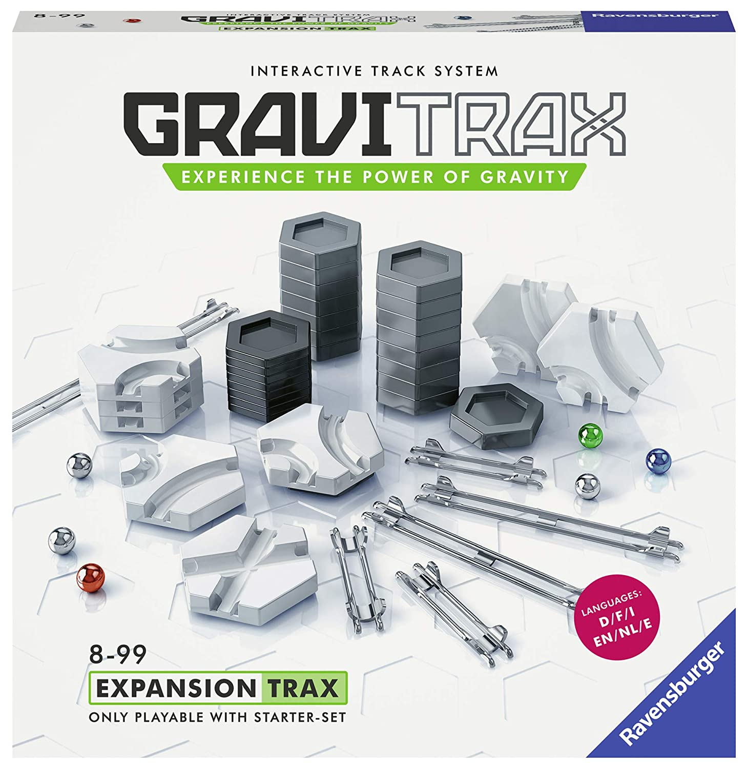 Amazon.com: Ravensburger 27601 GraviTrax: Trax Expansion Set, Multi: Toys & Games